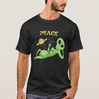 Peace Alien Men's Basic Dark T-Shirt