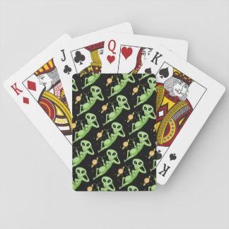 Peace Alien Playing Cards