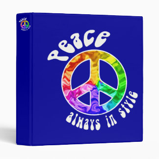 "Peace Always in Style Customizable 1"" Binder"