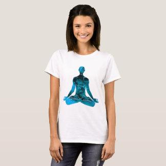 Peace Among the rigid Meditation (blue) T-Shirt