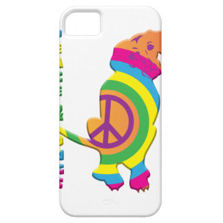 Peace And Dogs Funny iPhone 5 Cases