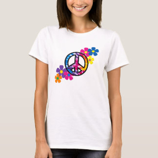 Peace and Flowers 60s Hippie T-shirt