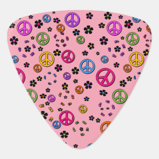 Peace and FLowers Guitar Pick