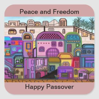Peace and Freedom Passover Stickers