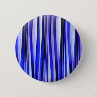 Peace and Harmony Blue Striped Abstract Pattern 2 Inch Round Button