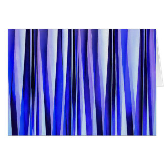 Peace and Harmony Blue Striped Abstract Pattern Card