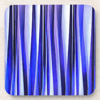 Peace and Harmony Blue Striped Abstract Pattern Coaster