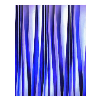 Peace and Harmony Blue Striped Abstract Pattern Letterhead