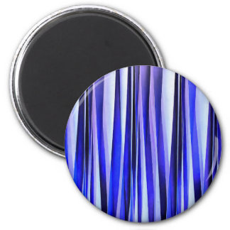 Peace and Harmony Blue Striped Abstract Pattern Magnet