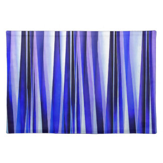 Peace and Harmony Blue Striped Abstract Pattern Placemat