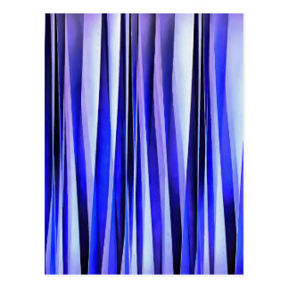 Peace and Harmony Blue Striped Abstract Pattern Postcard
