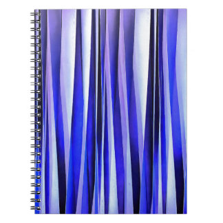 Peace and Harmony Blue Striped Abstract Pattern Spiral Notebook