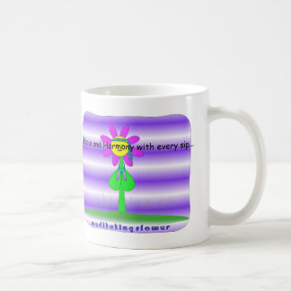 Peace and Harmony Flower Coffee Mug