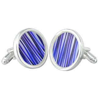Peace and Harmony Striped Abstract Pattern Cufflinks