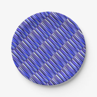 Peace and Harmony Striped Abstract Pattern Paper Plate