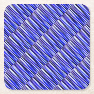 Peace and Harmony Striped Abstract Pattern Square Paper Coaster