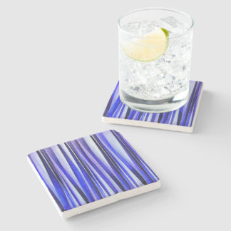 Peace and Harmony Striped Abstract Pattern Stone Coaster