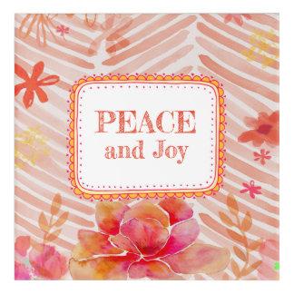 Peace and Joy Acrylic Wall Art