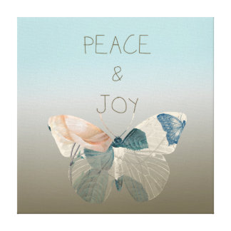 Peace and Joy Butterfly Gallery Wrapped Canvas