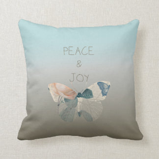 Peace and Joy Butterfly Throw Pillows