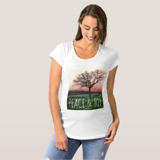 Peace and joy, customisable Tshirt with a tree