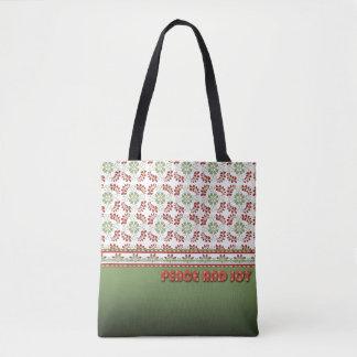 Peace and Joy Design Tote Bag