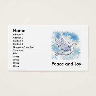 Peace and Joy Dove Cards