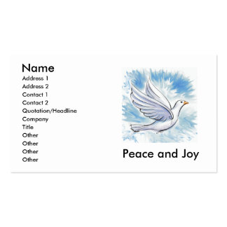 Peace and Joy Dove Cards Double-Sided Standard Business Cards (Pack Of 100)