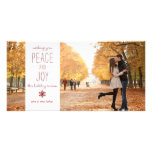 Peace and Joy - Family Photo Card