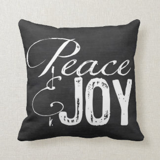Peace and Joy Pillow, Christmas Pillow, Rustic Throw Pillow