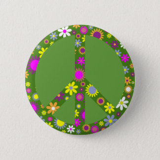 Peace and Love 2 Inch Round Button
