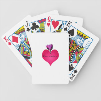 peace and love bicycle playing cards