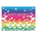 Peace and Love Birthday Card