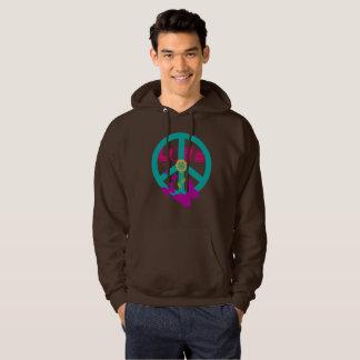 Peace and love hoodie