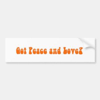 Peace and Love in Paia Maui Bumper Sticker