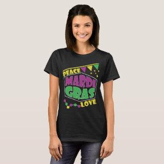Peace and Love Mardi Gras Tee Shirt