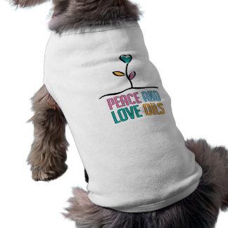 Peace and Love Oils Doggie Ribbed Tank Top Dog Tee Shirt