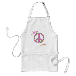 Peace and Love Peace Sign Apron