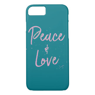 PEace-and-Love-Pink iPhone 7 Case