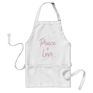 PEace-and-Love-Pink Standard Apron