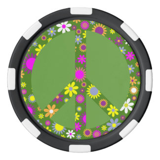 Peace and Love Poker Chips