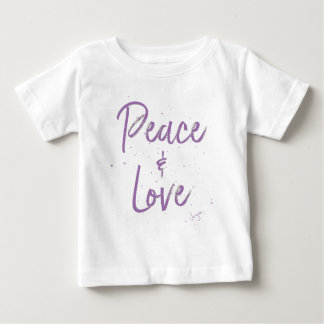 PEACE-and-Love-Purple Baby T-Shirt