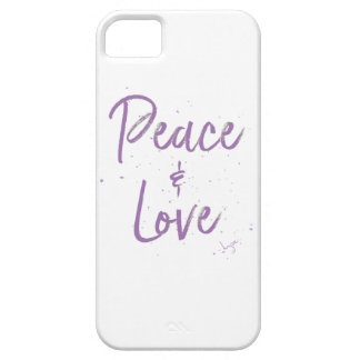 PEACE-and-Love-Purple Case For The iPhone 5
