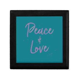 PEACE-and-Love-Purple Gift Box