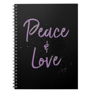 PEACE-and-Love-Purple Notebook