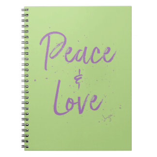 PEACE-and-Love-Purple Notebooks