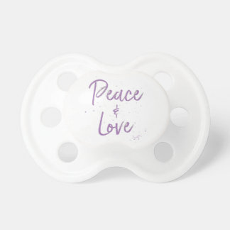 PEACE-and-Love-Purple Pacifier