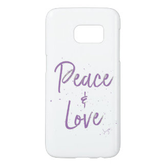 PEACE-and-Love-Purple Samsung Galaxy S7 Case