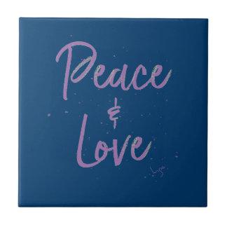PEACE-and-Love-Purple Tile