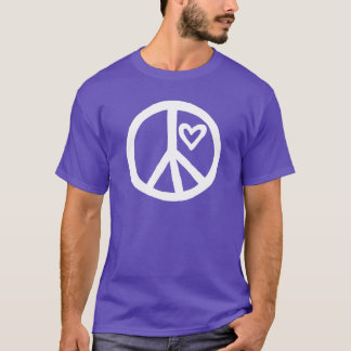 Peace and Love Quote on Back T-Shirt